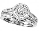 Ladies Two Piece Set 14K White Gold 0.50 cts. CL-29055