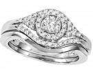 Ladies Two Piece Set 14K White Gold 0.50 cts. CL-29069