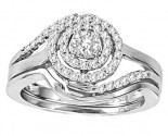 Ladies Two Piece Set 14K White Gold 0.50 cts. CL-29074