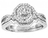 Ladies Two Piece Set 14K White Gold 0.50 cts. CL-29075