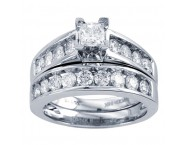 Ladies Two Piece Set 14K White Gold 1.00 ct. GD-18505 [GD-18505]