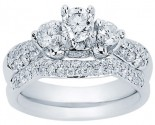Diamond Bridal Ring Set 14K White Gold 1.15 cts. CL-29506