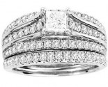 Ladies Two Piece Set 14K White Gold 1.61 cts. CL-29508