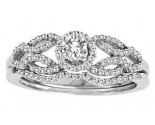 Ladies Two Piece Set 14K White Gold 0.49 cts. CL-30036