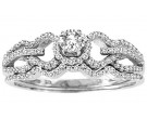 Ladies Two Piece Set 14K White Gold 0.51 cts. CL-30041