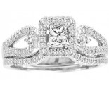 Ladies Two Piece Set 14K White Gold 0.50 cts. CL-30557