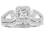 Ladies Two Piece Set 14K White Gold 0.50 cts. CL-30557 [CL-30557]