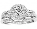 Ladies Two Piece Set 14K White Gold 0.50 cts. CL-30593