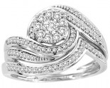 Ladies Two Piece Set 14K White Gold 0.50 cts. CL-30704