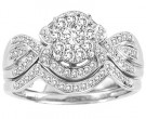 Ladies Two Piece Set 14K White Gold 0.50 cts. CL-30705