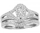 Ladies Two Piece Set 14K White Gold 0.42 cts. CL-30706
