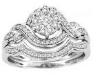 Ladies Two Piece Set 14K White Gold 0.42 cts. CL-30708