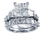 Ladies Two Piece Set 14K White Gold 1.50 cts. CL-30939 [CL-30939]