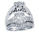 Ladies Two Piece Set 14K White Gold 0.24 cts. GD-31479