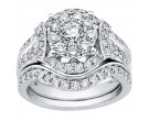 Diamond Bridal Ring Set 14K White Gold 1.98 cts. CL-32606