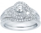 Ladies Two Piece Set 14K White Gold 1.01 cts. CL-32621