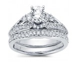 Diamond Bridal Ring Set 14K White Gold 1.25 cts. CL-32638