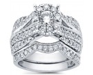 Diamond Bridal Ring Set 14K White Gold 1.96 cts. CL-32688