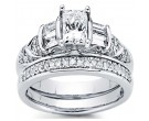 Ladies Two Piece Set 14K White Gold 1.03 cts. CL-32694
