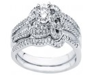 Diamond Bridal Ring Set 14K White Gold 0.50 cts. CL-32880