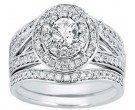 Diamond Bridal Ring Set 14K White Gold 1.25 cts. CL-33325