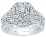 Ladies Two Piece Set 14K White Gold 1.00 ct. CL-33553