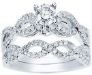 Ladies Two Piece Set 14K White Gold 0.90 cts. CL-33560