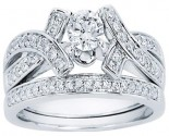 Ladies Two Piece Set 14K White Gold 0.75 cts. CL-33563