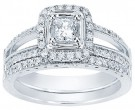 Ladies Two Piece Set 14K White Gold 0.85 cts. CL-33602