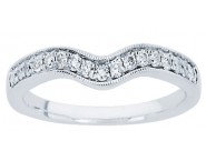 Ladies Diamond Curved Band 14K White Gold 0.20 cts. CL-34103