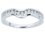 Ladies Diamond Curved Band 14K White Gold 0.34 cts. CL-34105