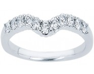 Ladies Diamond Curved Band 14K White Gold 0.34 cts. CL-34106