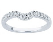 Ladies Diamond Curved Band 14K White Gold 0.20 cts. CL-34107