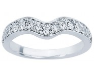 Ladies Diamond Curved Band 14K White Gold 0.50 cts. CL-34118
