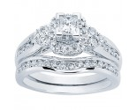 Ladies Two Piece Set 14K White Gold 1.17 cts. CL-34121