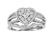 Ladies Two Piece Set 14K White Gold 0.91 cts. CL-38477