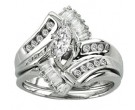 Ladies Two Piece Set 14K White Gold 0.75 cts. CL-6047