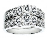 Ladies Two Piece Set 14K White Gold 1.53 cts. CL-22207