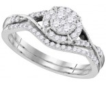 Ladies Two Piece Set 10K White Gold 0.37 ct. GD-109551