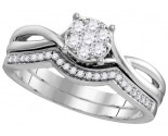 Ladies Two Piece Set 10K White Gold 0.33 ct. GD-109784