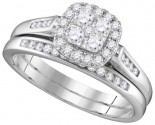 Ladies Two Piece Set 14K White Gold 0.50 ct. GD-110540