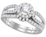 Ladies Two Piece Set 14K White Gold 0.25 ct. GD-111708
