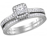 Ladies Two Piece Set 10K White Gold 0.75 ct. GD-112377