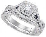 Ladies Two Piece Set 14K White Gold 0.20 ct. GD-93738