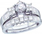 Ladies Two Piece Set 14K White Gold 1.00 ct. GD-10456