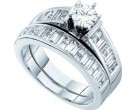 Ladies Two Piece Set 14K White Gold 1.40 cts. GD-10461