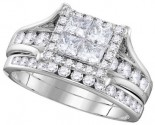 Ladies Two Piece Set 14K White Gold 1.50 cts. GD-106280
