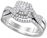 Ladies Two Piece Set 14K White Gold 0.50 cts. GD-111723