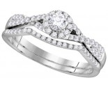 Ladies Two Piece Set 14K White Gold 0.50 cts. GD-111736
