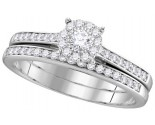 Ladies Two Piece Set 14K White Gold 0.50 cts. GD-111738